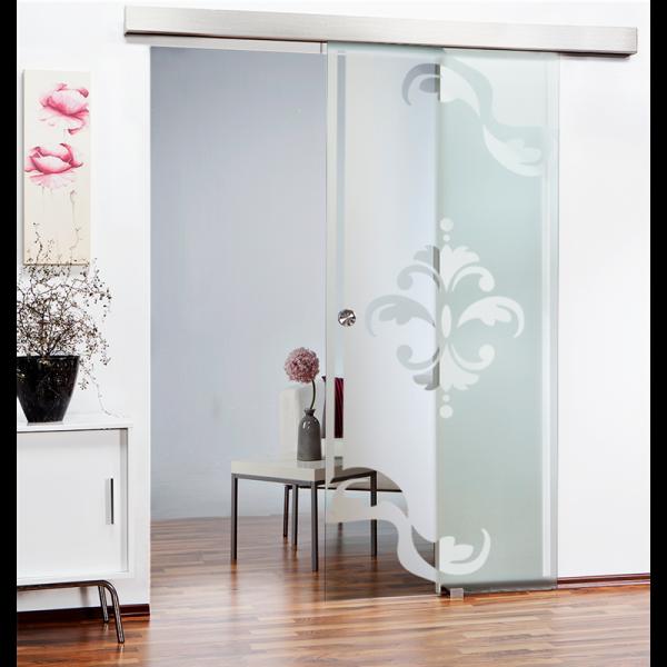 Glass Barn Door (Model SGD-ALU100-0061 Semi-Private)