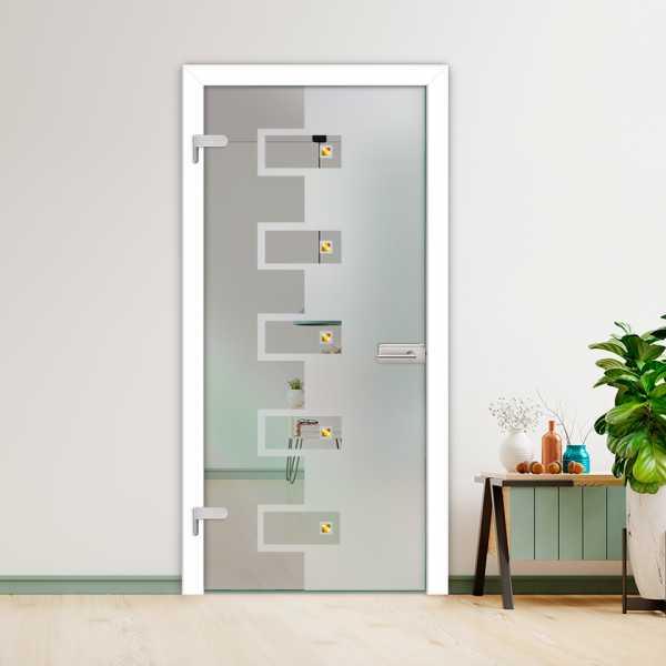 Hinged Glass Door (Model HGD-H+H-0026 Semi-Private)