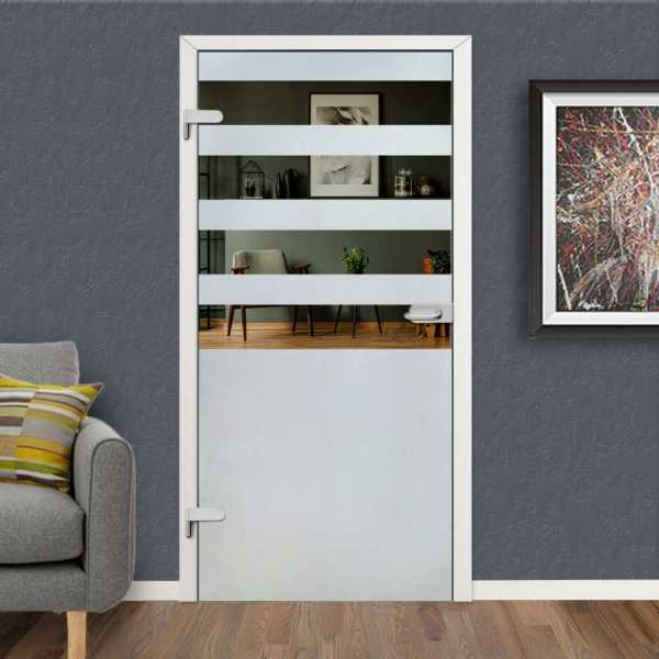 Hinged Glass Door HGD-H+H-0084 (Semi-Private)