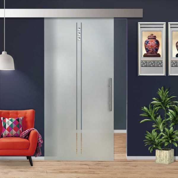 Glass Barn Door (Model SGD-ALU100-0027 Semi-Private)
