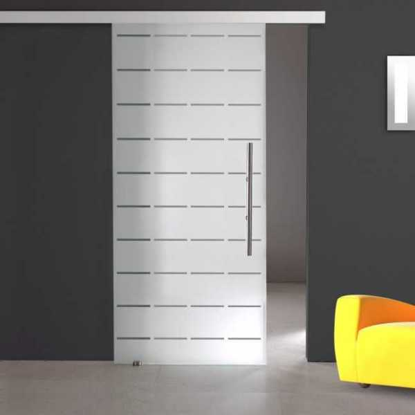 Sliding Glass Barn Door SGD-ALU100-0068 semi-private