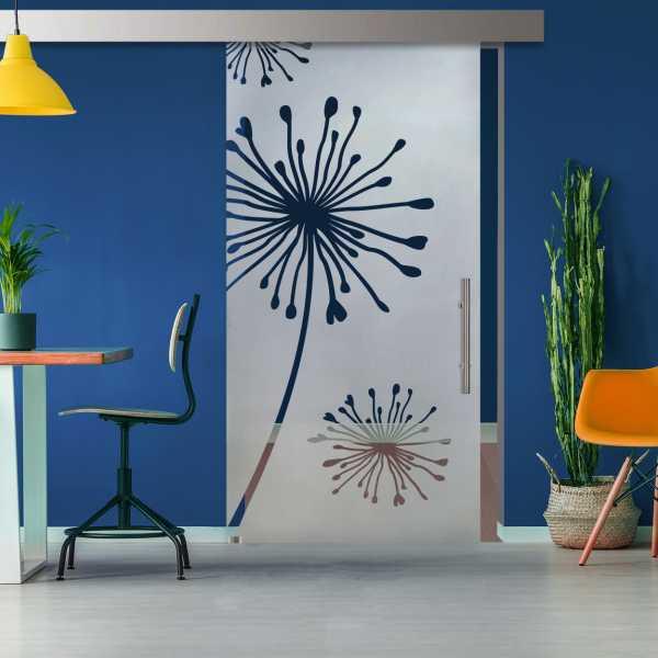 Glass Barn Door (Model SGD-ALU100-0123 Semi-Private)