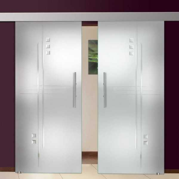 double sliding glass barn doors gemstones clear lines design - Glass Barn Doors