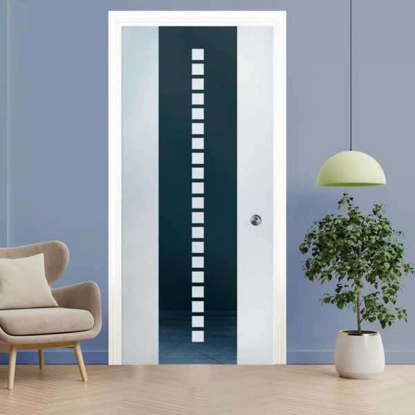 Pocket Sliding Glass Door with Frosted Design PSGD-0082