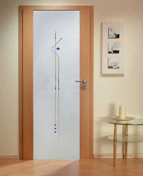 Solid Wood Hinged Door with Glass Insert HWDI-001