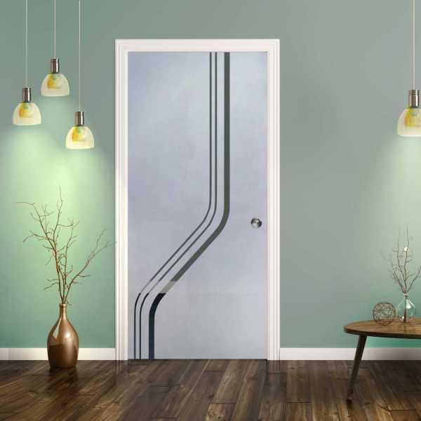 Pocket Glass Barn Door (Model PSGD-0085 Semi-Private)