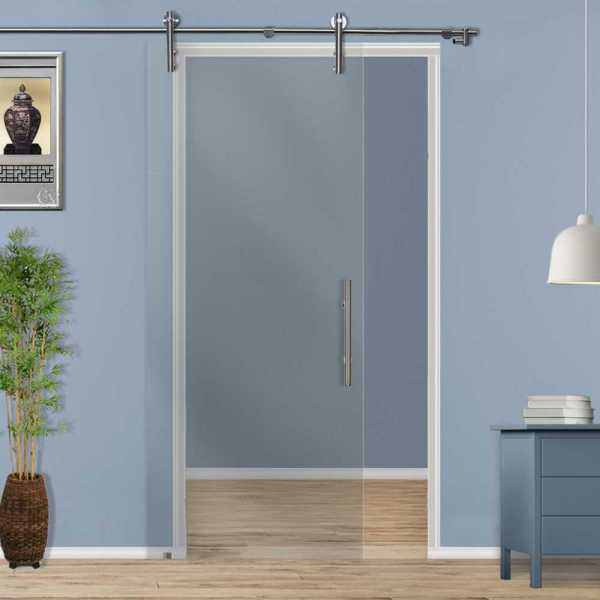 Sliding Glass Barn Door SGD-V1000-0003 semi-private
