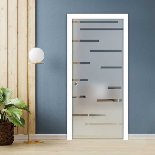 Pocket Glass Barn Door (Model PSGD-0082 Semi-Private)