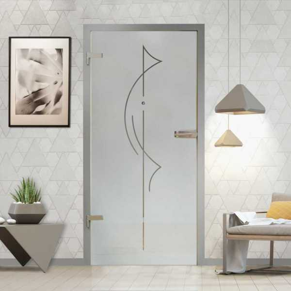 Hinged Glass Door (Model HGD-H+H-0075 Semi-Private)