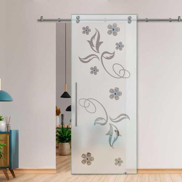 Glass Barn Door (Model SGD-V2000-0201 Semi-Private)