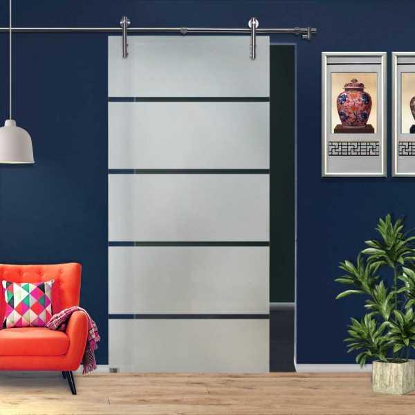 ++Sales Offers++ Sliding Glass Barn Door SGD-V1000-0063