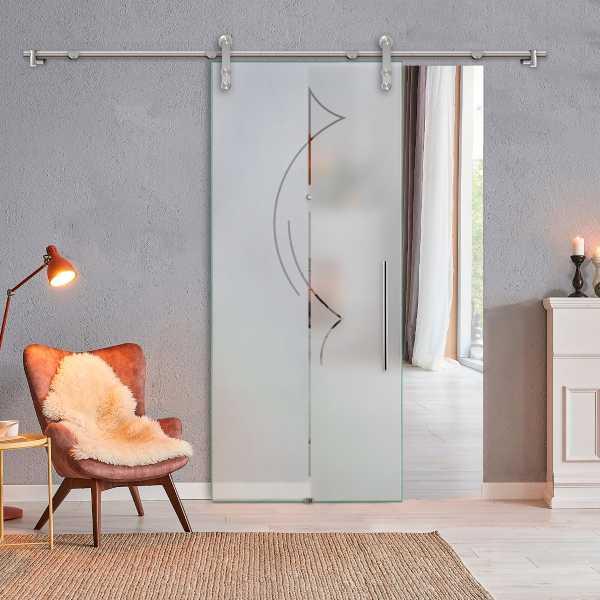 Sliding Glass Barn Door SGD-V1000-0175