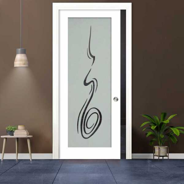 Glass Barn Door (Model PWGD-0010 Semi-Private)_Recessed Grip Handle