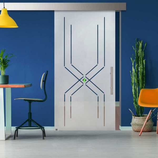 Sliding Glass Barn Door SGD-ALU100-0203