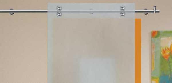 """V2000 Stainless Steel Sliding Glass Barn Door Hardware Kit 79"""" SH-SS-0002"""
