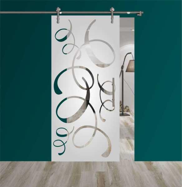 Sliding Glass Barn Door SGD-V1000-0174 semi-private
