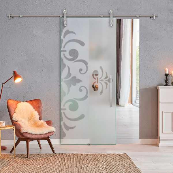 Sliding Glass Barn Door SGD-V1000-0076 semi-private