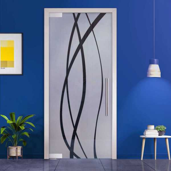 Pivot Glass Door (Model PD-0034 Semi-Private) with Handle Bar