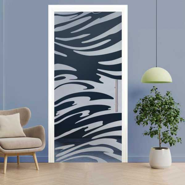 Sliding Pocket Glass Door with Frosted Design and Hardware PSGD-0051