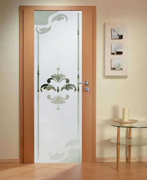 Solid Wood Hinged Door with Glass Insert HWDI-002