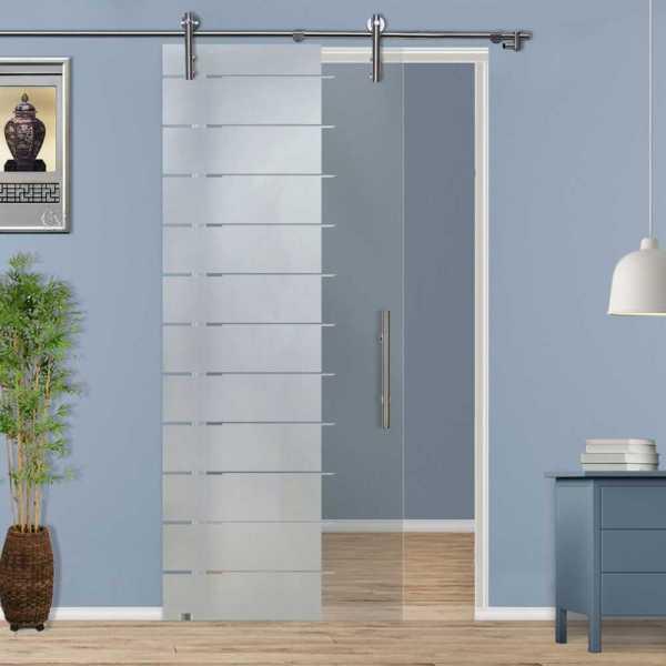 Single Sliding Glass Barn Door SGD-V1000-0069