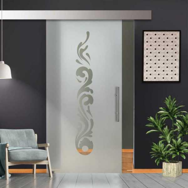 Glass Barn Door (Model SGD-ALU100-0233 Semi-Private)