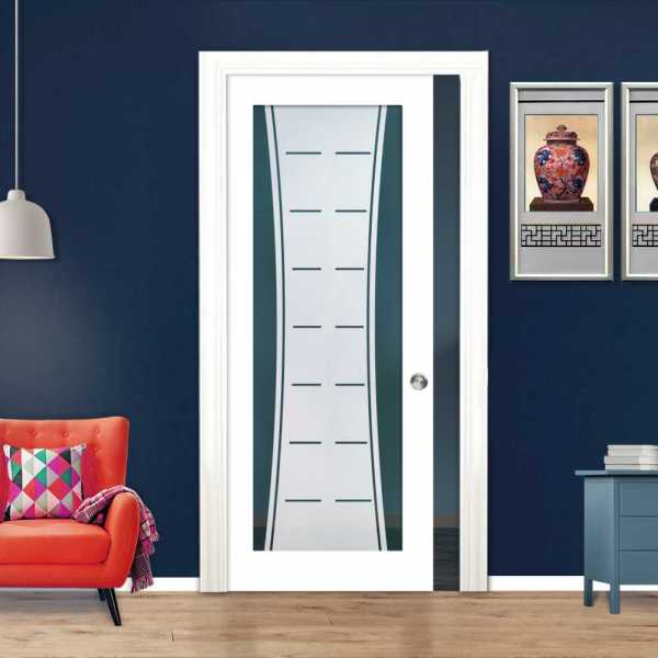 Glass Barn Door (Model PWGD-0003 Semi-Private)_Recessed Grip Handle
