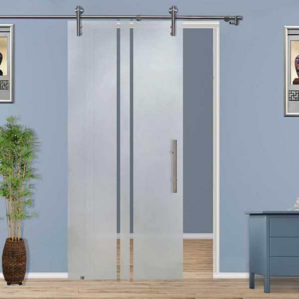 ++Sales Offers++ Sliding Glass Barn Door SGD-V1000-0115