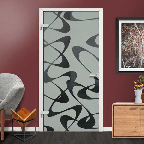 Hinged Glass Door HGD-H+H-0018 (semi-Private)