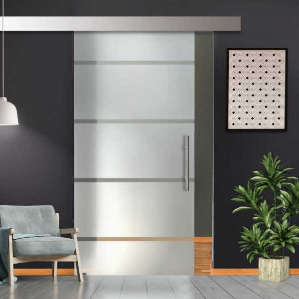 Single Sliding Glass Barn Door SGD-ALU100-0024