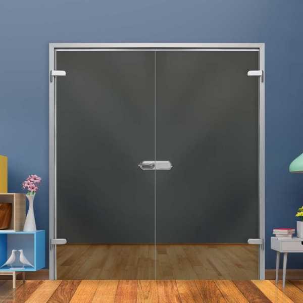 Clear Double Hinged Glass Door H-H+DHGD-0030