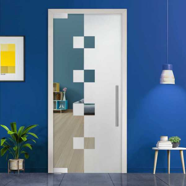 Pivot Glass Door (Model PD-0041 Semi-Private) with Handle Bar