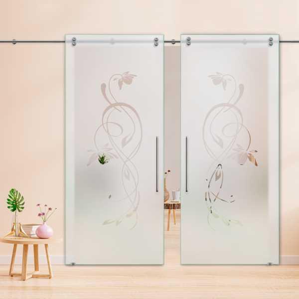 Glass Barn Door (Model DSGD-V2000-0057 Semi-Private)