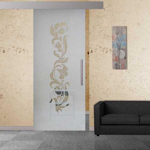 Sliding Glass Barn Door SGD-ALU100-0064