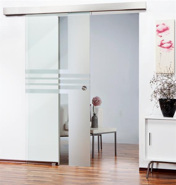 Glass Barn Door (Model SGD-ALU100-0100 Semi-Private)