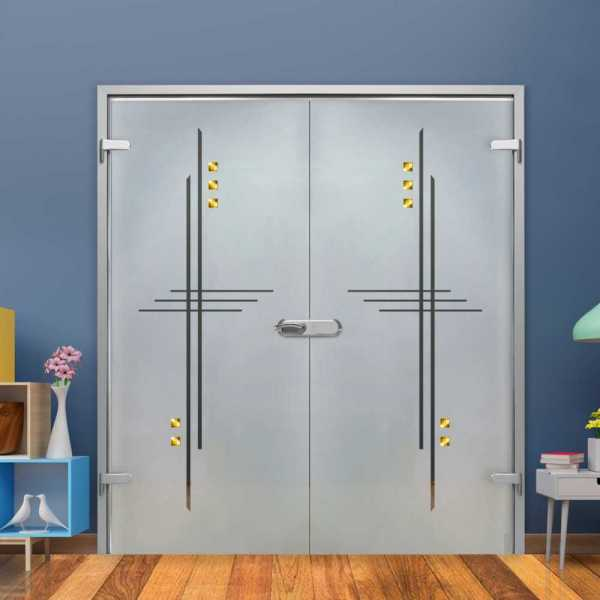 Double Hinged Glass Door H-H+DHGD-0027