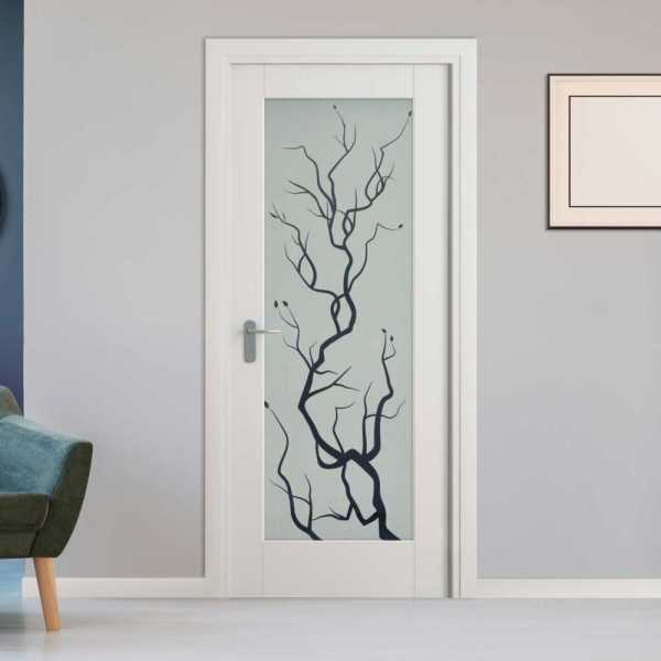 1 Lite Interior Door with Glass Insert (Model 1LID-0001 Semi-Private)
