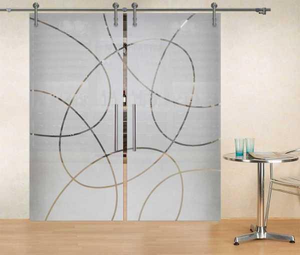 Double Sliding Glass Barn Door DSGD-V1000-0007