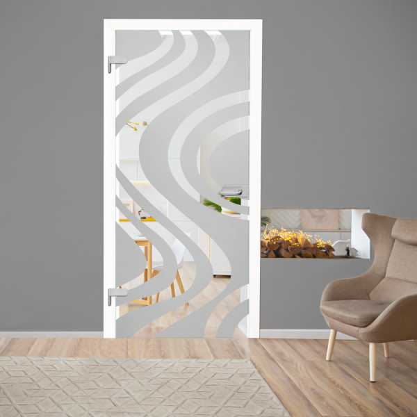 Hinged Glass Door HGD-H+H-0069 (semi-Private)