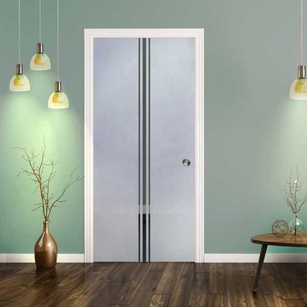 Pocket Glass Barn Door (Model PSGD-0084 Semi-Private)