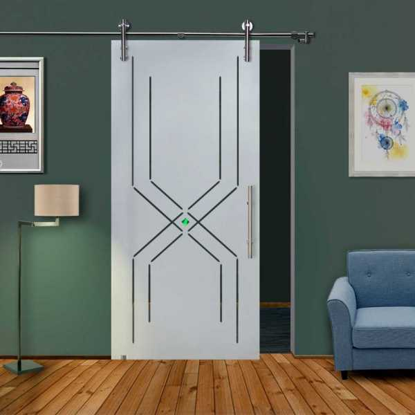 Glass Barn Door (Model SGD-V1000-0011 Semi-Private)