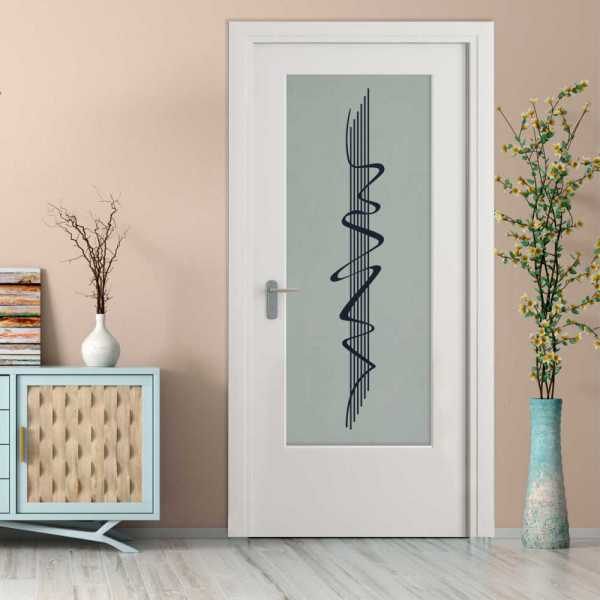 MDF Hinged Doors with Glass Insert HMDI-0028