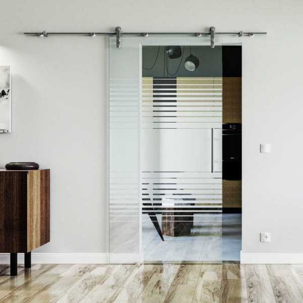 Single Sliding Glass Barn Door SGD-V1000-0069