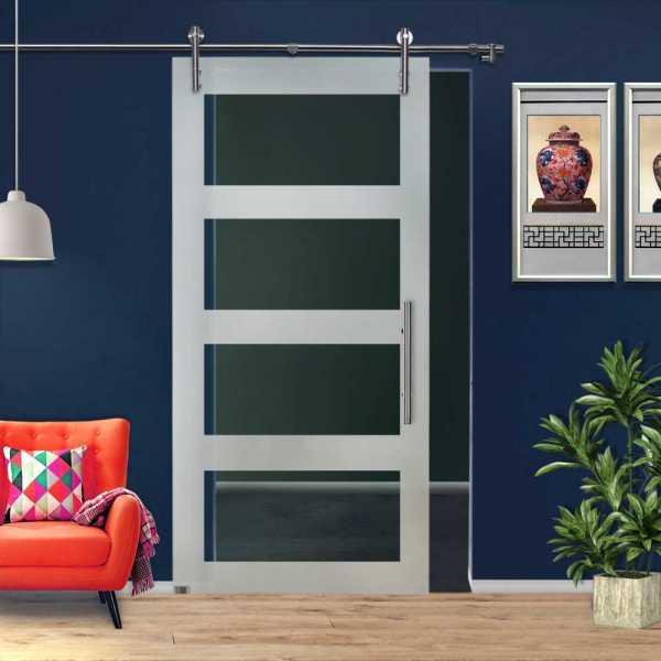 ++Sales Offers++ Sliding Glass Barn Door SGD-V1000-0050