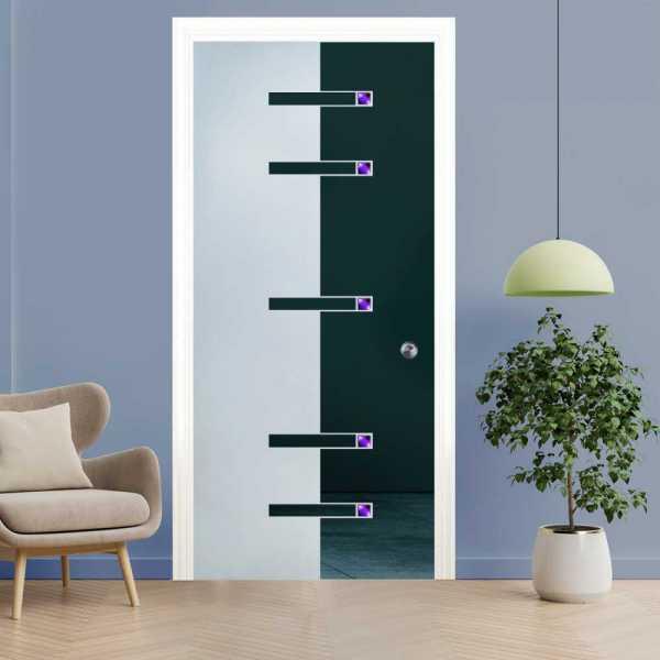 Pocket Glass Barn Door (Model PSGD-00121 Semi-Private)
