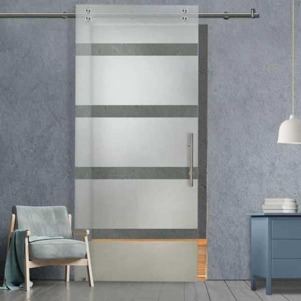 Glass Barn Door (Model SGD-V2000-0035 Semi-Private)