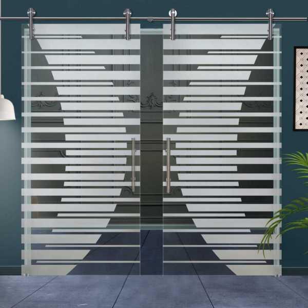 Double Glass Barn Door (Model DSGD-V1000-0001 Semi-Private)