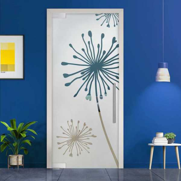 Pivot Glass Door (Model PD-0059 Semi-Private) with Handle Bar