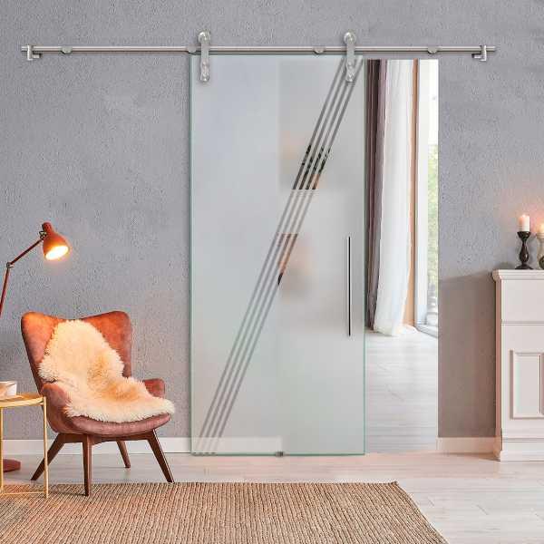 Glass Barn Door (Model SGD-V1000-0313 Semi-Private)