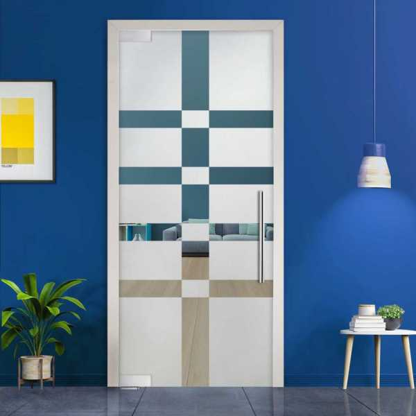 Pivot Glass Door (Model PD-0047 Semi-Private) with Handle Bar